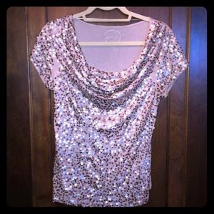 Women's gold sequin top, size M